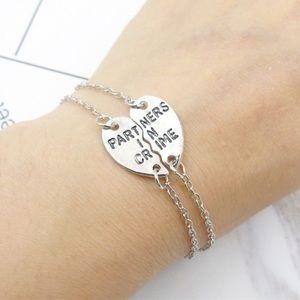 Silver Partner In Crime Friendship Bracelet Set